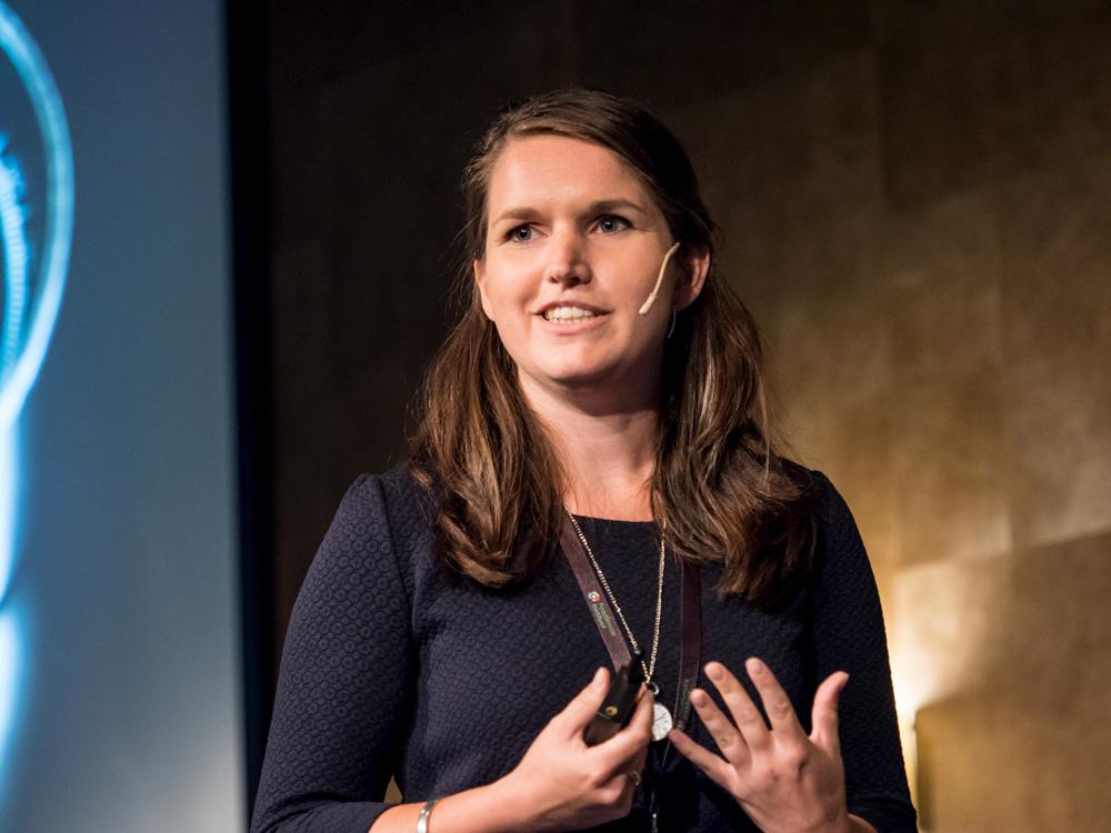 Inga Blokker op het zomercongres van de FSIN.