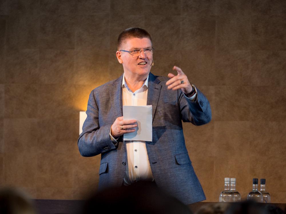 Jan-Willem Grievink op het zomercongres van de FSIN.